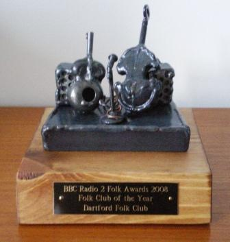 The 'hardware'- A trophy for Pam &amp Alan's hard work and dedication over 35 years